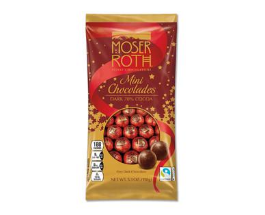 Moser Roth Dark 70% Cocoa Mini Chocolades