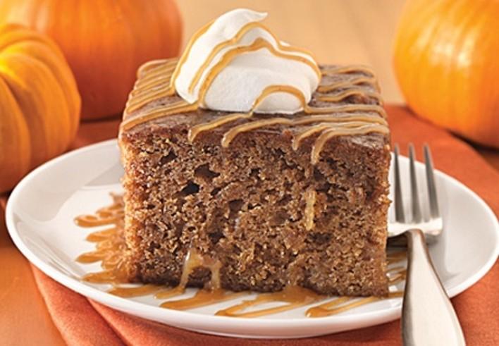 Gooey Caramel Pumpkin Cake