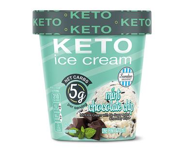 Sundae Shoppe Mint Chocolate Chip Keto Ice Cream