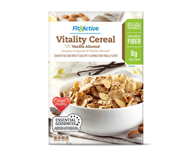 Fit and Active Vitality Cereal Vanilla Almond
