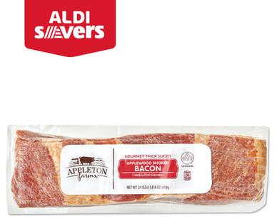 ALDI Savers Appleton Farms Applewood Smoked Thick-Sliced Bacon