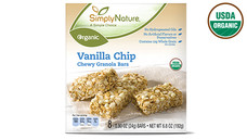 Simply Nature Organic Vanilla Chip Chewy Granola Bars. View Details.