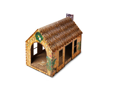 Heart to Tail Holiday Cat Scratching Playhouse or Activity Box View 1