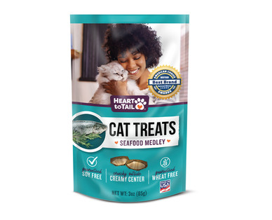 Heart To Tail Cat Treats - Seafood Medley