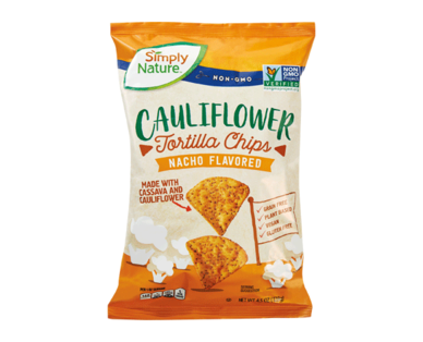 Simply Nature Nacho Cauliflower Tortilla Chips