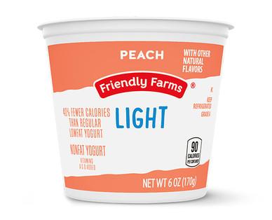Friendly Farms Light Nonfat Peach Yogurt