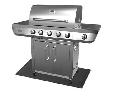 aldi us range master 5 burner stainless steel gas grill. Black Bedroom Furniture Sets. Home Design Ideas