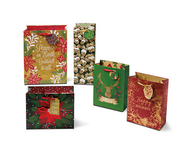 Merry Moments 5-Pack Premium Gift Bags View 4