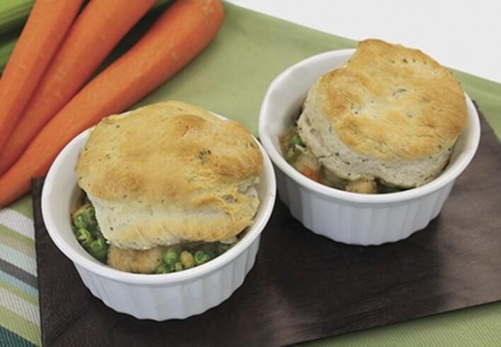 Dairy Free Chicken Pot Pie with Herb Biscuits