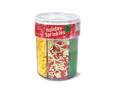 Baker's Corner 6 in 1 Holiday Sprinkles Jar