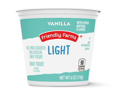 Friendly Farms Light Nonfat Vanilla Yogurt