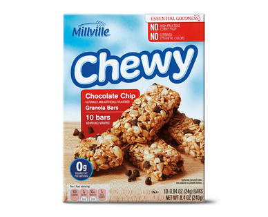 Millville Chocolate Chip Chewy Granola Bars
