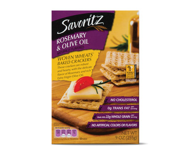 Savoritz Rosemary & Olive Oil Woven Wheat Baked Crackers