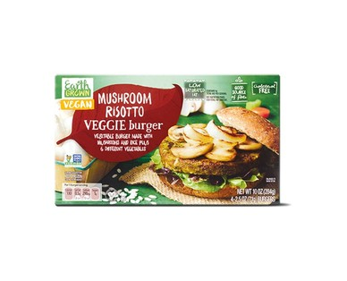Earth Grown Mushroom Risotto or Lentil Veggie Burgers View 1