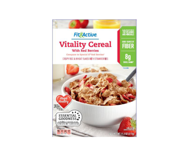 Vitality Cereal with Strawberries