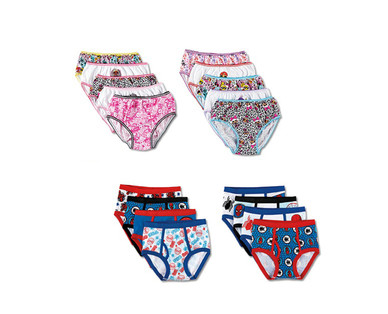 Boys' 8 Pack or Girls' 10 Pack Character Underwear View 2