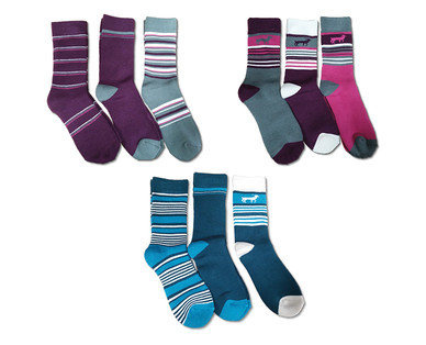 Adventuridge Ladies' or Men's 3 Pair Outdoor Socks View 2