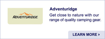 Adventuridge. Quality Camping Gear. Learn More.