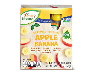 Simply Nature Apple Banana Fruit Squeezies