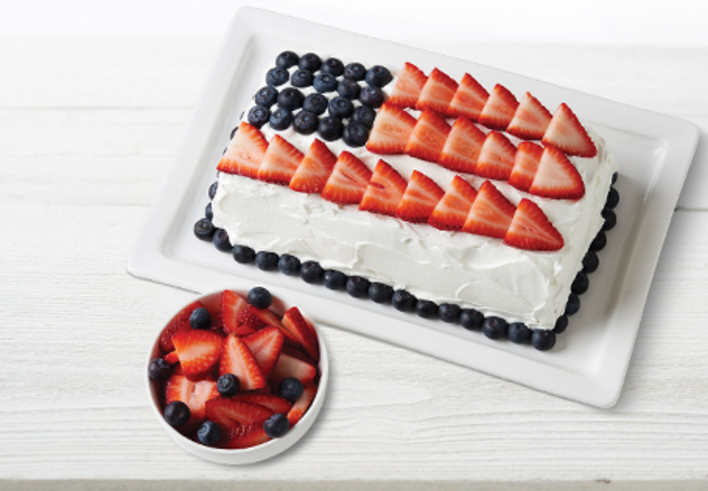 Red White And Blue Ice Cream Cake Aldi Us