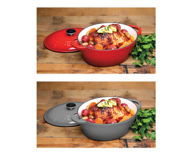 Crofton Cast Iron 4.6-Quart French Oven View 3