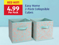 Red hot! Easy Home 2-Pack Collapsible Cubes: $4.99. View Details.