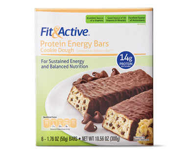Fit & Active® Cookie Dough Protein Energy Bars