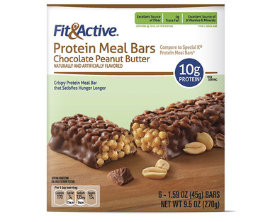 Fit and Active Chocolate Peanut Butter Protein Meal Bars