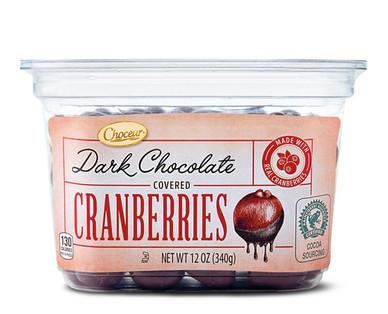 Choceur Dark Chocolate Covered Cranberries
