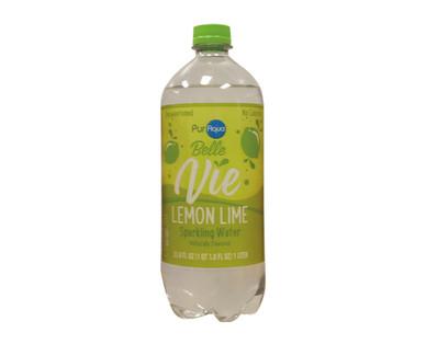 PurAqua Belle Vie 1 Liter Lemon Lime Sparkling Water