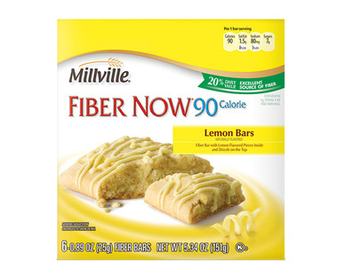Millville Fiber Now 90 Calorie Lemon Bars