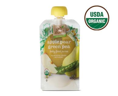 Little Journey Apple Pear Green Pea Baby Food Puree