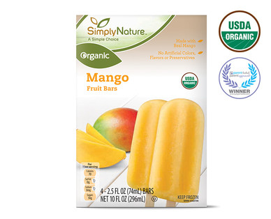 Organic Frozen Mango Fruit Bars