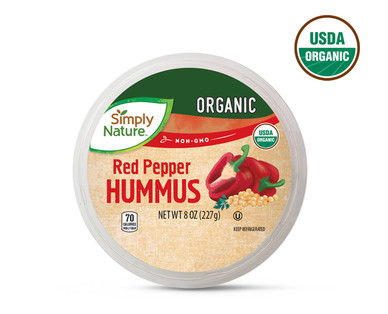 Simply Nature Organic Hummus, Red Pepper