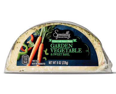 Garden Vegetable and Sweet Basil Hand Crafted Cheese