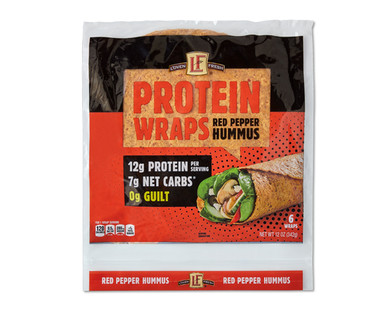 L'oven Fresh Red Pepper Hummus Protein Wraps