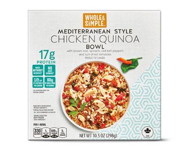 Whole and Simple Mediterranean Chicken Quinoa Bowl
