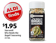 ALDI Find: Stonemill Who Needs the Bagel? Seasoning 2.3 oz. $1.95. View details.