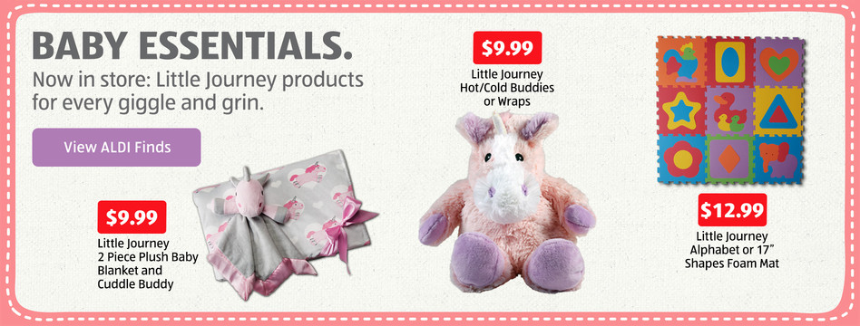 Now In Store: Baby Essentials. View ALDI Finds.