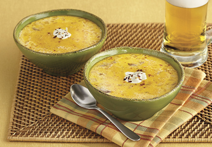 Beer and Brat Cheese Soup