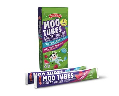 Friendly Farms Moo Tubes Cotton Candy & Melonberry