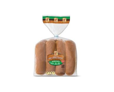 L'oven Fresh 100% Whole Wheat Hamburger or Hot Dog Buns View 2