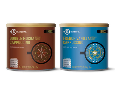 Barissimo French Vanilla or Double Mocha Cappuccino Mix