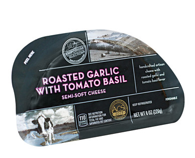 Emporium Selection Roasted Garlic With Tomato & Basil Hand-Crafted Cheese