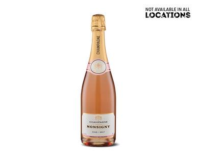 Veuve Monsigny Champagne Rosé View 1