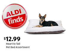 ALDI Find: Heart to Tail Pet Bed Assortment. $12.99 each. View details.