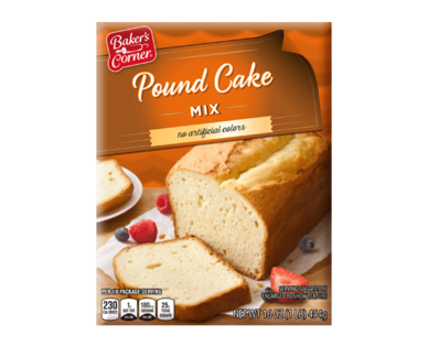 Baker's Corner Pound Cake Mix