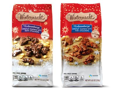 Winternacht Milk or Dark Chocolate Peanut Clusters