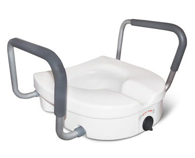 Welby Raised Toilet Seat With Lock and Armrests