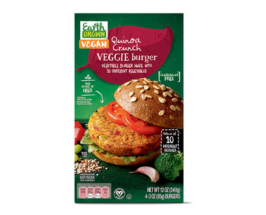 Earth Grown Quinoa Crunch Veggie Burger